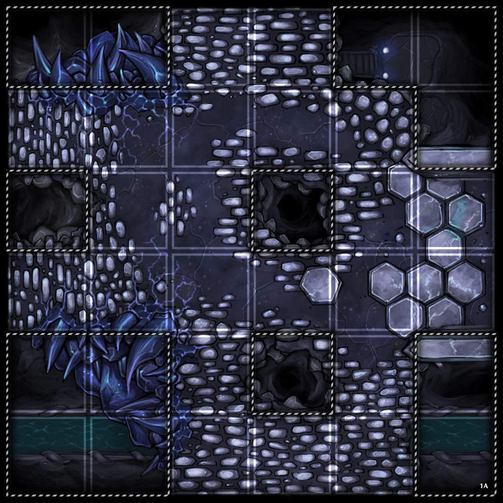 White Vault Broad Grid