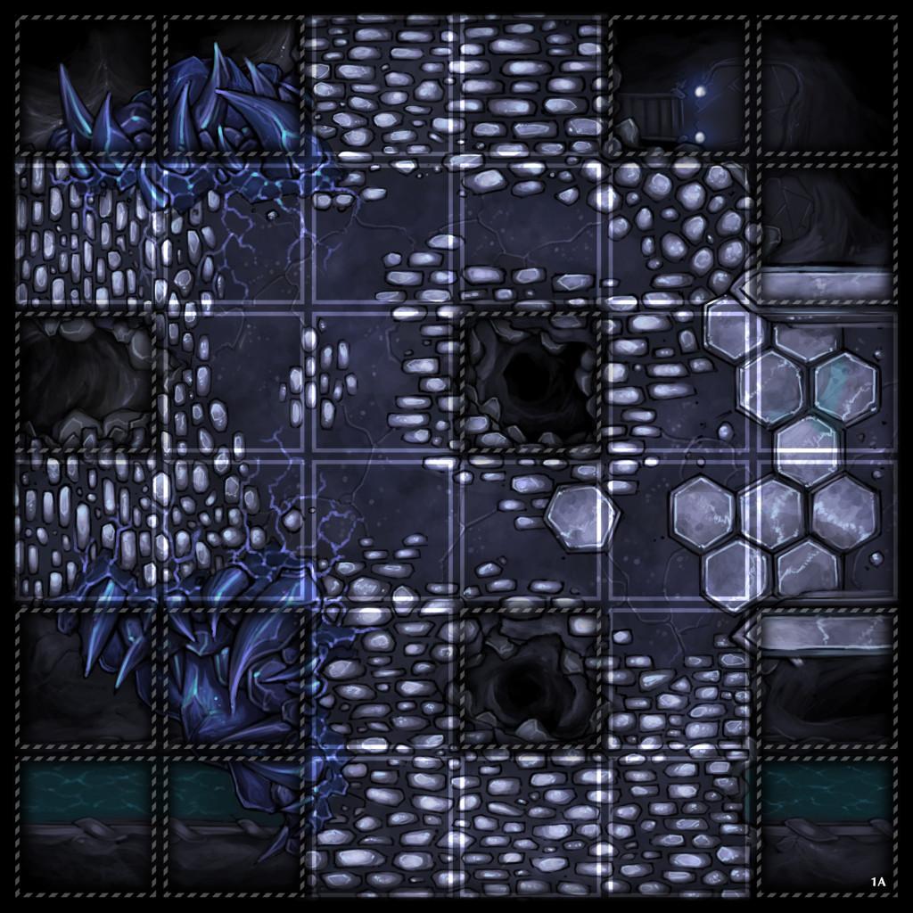 White Vault Dark Grid