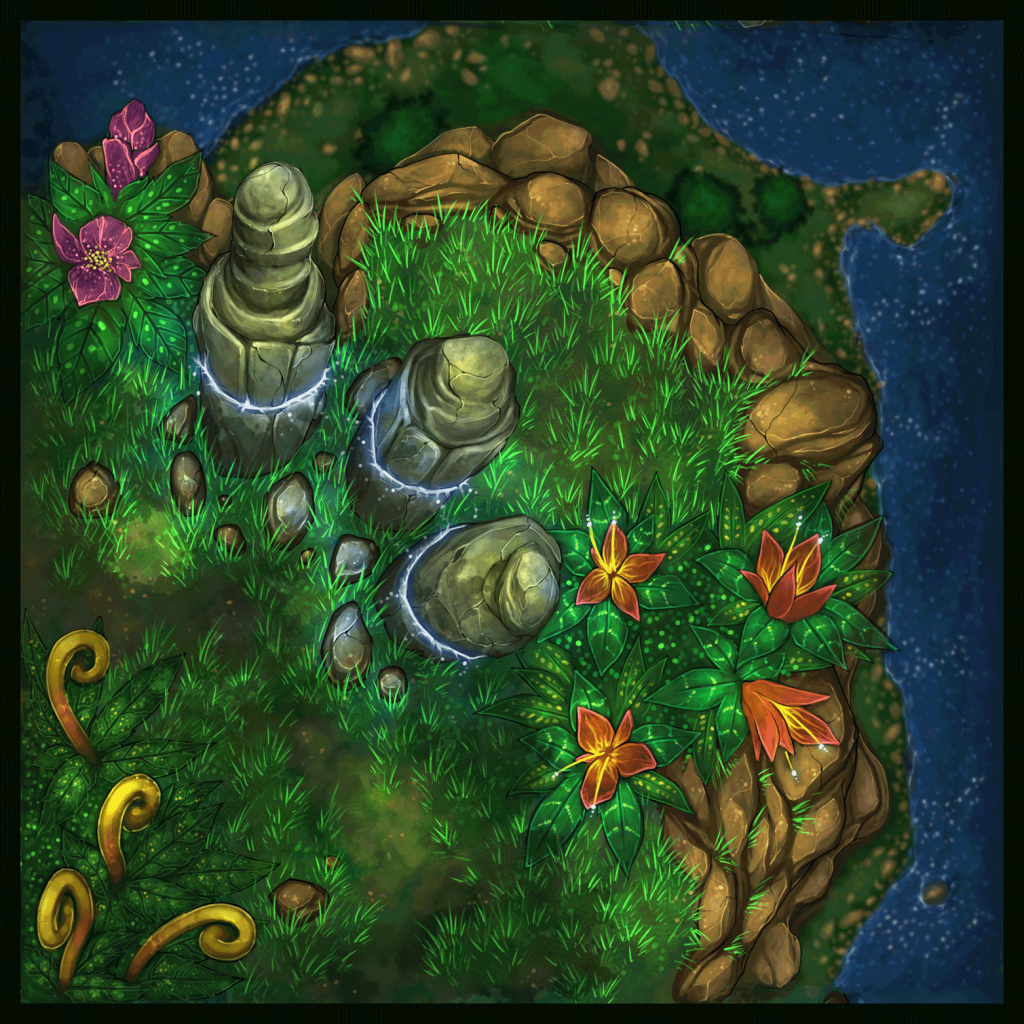 Forest and Cliffside Tiles 10 - WIP