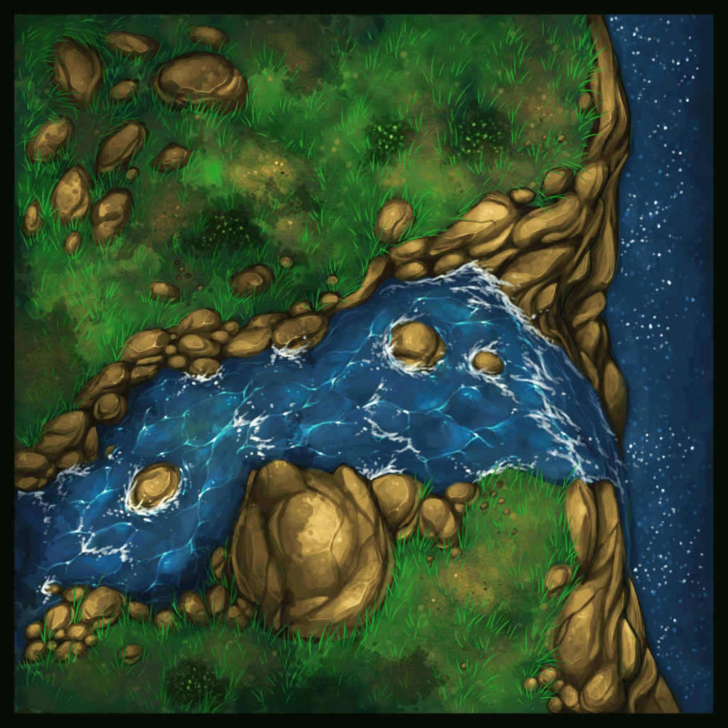 Forest and Cliffside Tiles 11 - WIP