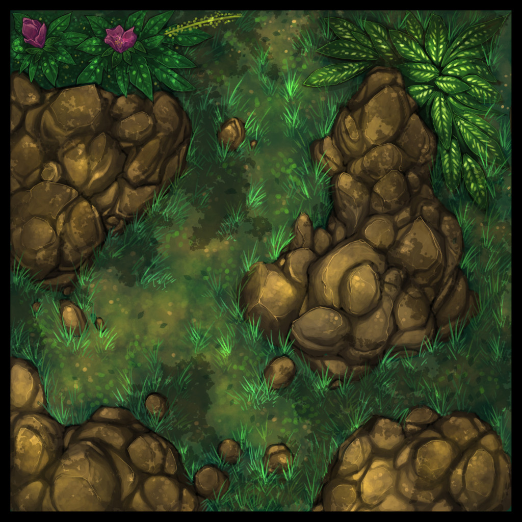 Forest and Cliffside Tiles 2 - WIP