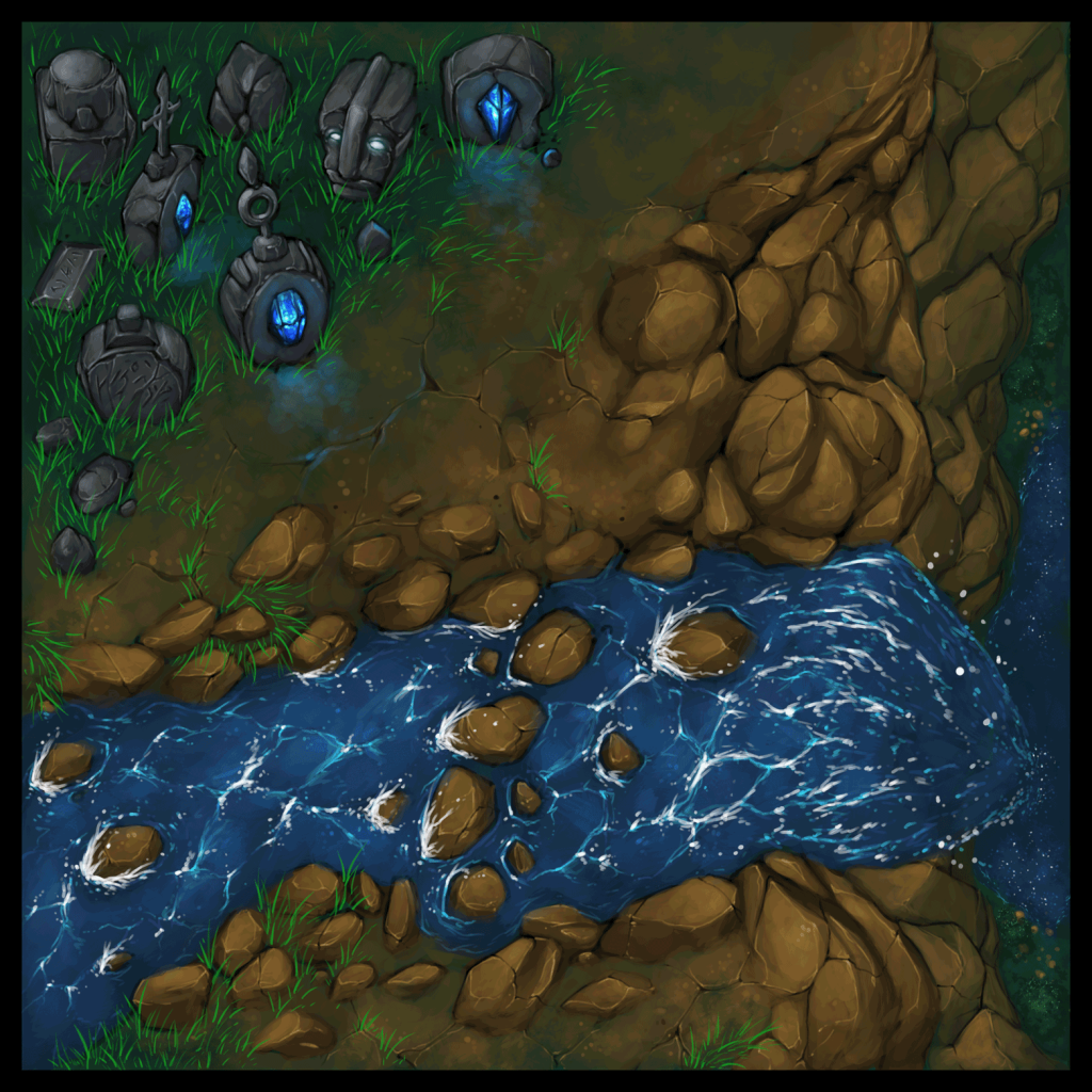 Forest and Cliffside Tiles 12 - WIP