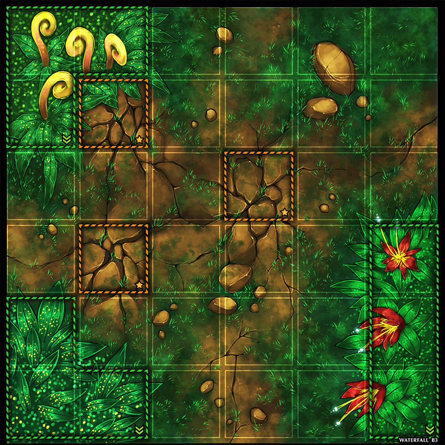 Forest Tile with Grid