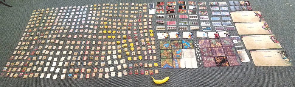 Almost all of the Components for the Demos - with a Banana for scale!